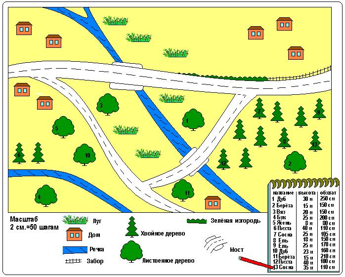Схема дерева для плана